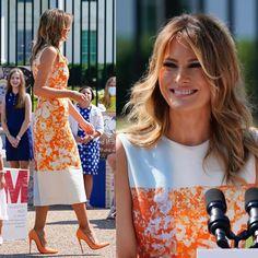 Melania Trump Dress, First Lady Melania Trump, Milania Trump Style, Malania Trump, Donald And Melania, Trump Is My President, Office Looks, Victoria, People Dress