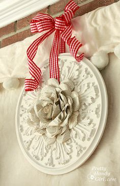 Book Page Rose and Ceiling Medallion Wreath