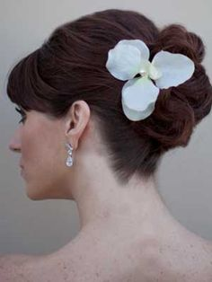 White Tropical Orchid Bridal Hair Flower