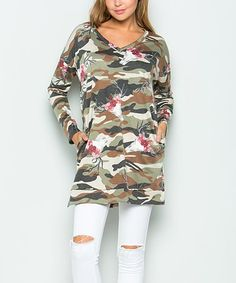 7252462fce86 Look what I found on  zulily! Olive Camouflage Tunic - Plus  zulilyfinds Big