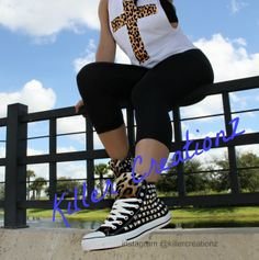 Custom Silver Studded Converse Chuck Taylors by KillerCreationz, $130.00