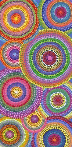 'Cosmically dotti' Poster by Elspeth McLean - Kunstideen - Phonecases Middle School Art, Art School, Arte Elemental, Classe D'art, 5th Grade Art, Circle Art, Art Classroom, Art Club, Art Plastique