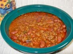 Chili in 1.5 quart slow cooker... Made this bad boy last night... made the ketchup from scratch!