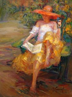 "Can you say ""Renoir""? Afternoon in the Garden ~ Diane Leonard Reading Art, Woman Reading, Renoir, Oeuvre D'art, All Art, Female Art, Book Art, Art Photography, Illustration Art"