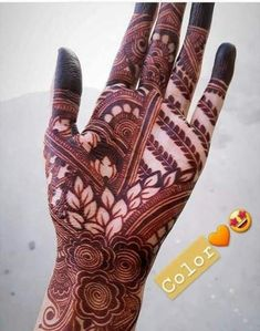 Henna Design By Fatima Pretty Henna Designs, Rose Mehndi Designs, Henna Art Designs, Modern Mehndi Designs, Dulhan Mehndi Designs, Mehndi Designs For Fingers, Wedding Mehndi Designs, Latest Mehndi Designs, Mehendi