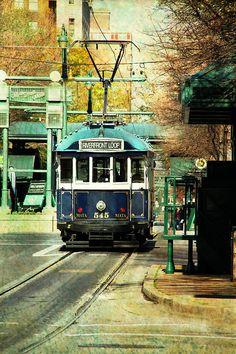 Memphis Prints    Trolley Stop Memphis Photograph