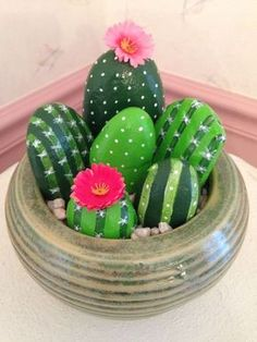 Sassi diventano bellissimi cactus! Idea n° 10 Video Tutorial…