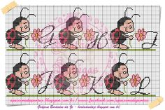 Cross Stitch Alphabet, Cross Stitch Patterns, Hama Beads, Peanuts Comics, Embroidery, Disney, Fictional Characters, Maria Clara, Ladybugs
