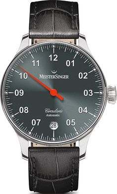 MeisterSinger Watch Circularis Automatic #add-content #basel-16 #bezel-fixed #bracelet-strap-leather #brand-meistersinger #case-depth-13-5mm #case-material-steel #case-width-43mm #date-yes #delivery-timescale-1-2-weeks #dial-colour-grey #gender-mens #luxury #movement-automatic #new-product-yes #official-stockist-for-meistersinger-watches #packaging-meistersinger-watch-packaging #style-dress #subcat-circularis #supplier-model-no-cc907 #warranty-meistersinger-official-2-year-guarantee…