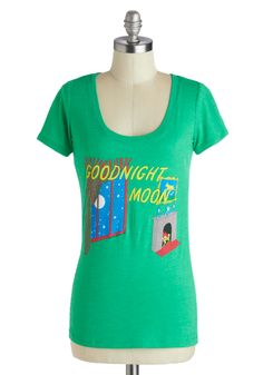 Damn! I love this book! Novel Tee in Goodnight Moon | Mod Retro Vintage T-Shirts | ModCloth.com