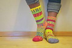 Ravelry: Yorkshire Yarns Mismatched Socks pattern by Jasmine Wallace Yorkshire Yarns Craft Knitting Category Feet / Legs → Socks → Mid-calf Published March 2013 Suggested yarn Cascade Yarns Fixation Solid Red: 18oz, Yellow: 18oz, Orange: 18 oz, Green: 24oz, Purple: 18oz