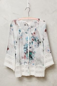 Meadow Rue Glenneyre Peasant Top #anthrofave