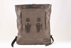 Gray Backpack Genuine Leather Gray Leather by PickpocketShop, $270.00