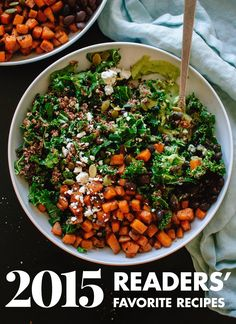 Las 10 recetas vegetarianas favoritos de 2015!  cookieandkate.com