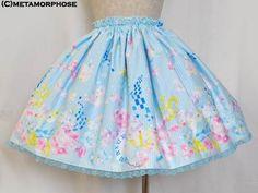 Metamorphose Temps de Fille Cotton Candy mini skirt in sax or black (navy)