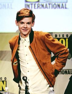 if j could ever see him at comic-con it would be the best dayyyy Thomas Brodie Sangster, Hot Actors, Actors & Actresses, Maze Runner Thomas, Hottest Guy Ever, The Scorch Trials, Hollywood Actor, Dylan O'brien, Celebs