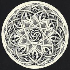 zentangle mandala (zendala) from Enthusiastic Artist: Auraknot & Celtic-style Auraknot