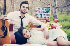 75-engaged-couple-picnic-guitar-skinny-tie-head-in-lap