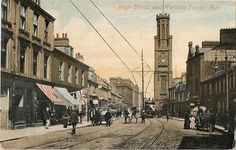 High Street and Wallace Tower, Ayr 1910