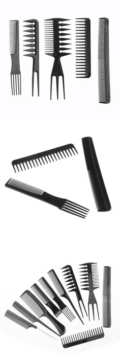 10pcs Hair Styling DIY Tool Comb Anti-static Barbershop Style Makeup Brush Salon Products HJL2017