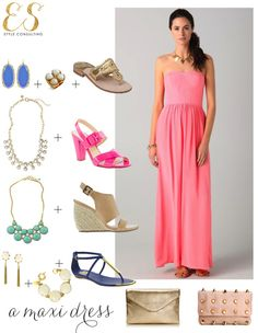 How to style a maxi dress via Sequins & Stripes
