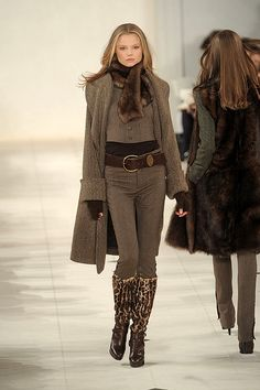 Ralph Lauren want this outfit, minus the animal print boots, would want riding boots instead.