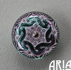 CZECH GLASS BUTTON: 27mm Lacey Twist by AriaDesignStudio on Etsy