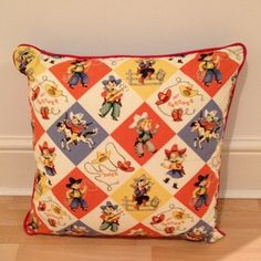 Cowboy Kids Cushion - Creative Connections For £26.99 how can you resist! Only 1 made, completely unique and original.