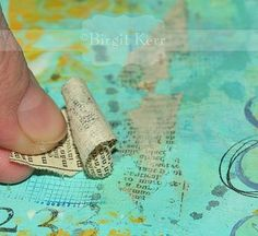 Print Transfer Technique  A quick and easy way to transfer some print material to your art journaling pages, that I came across mostly by accident and have since used on many an art journaling page!
