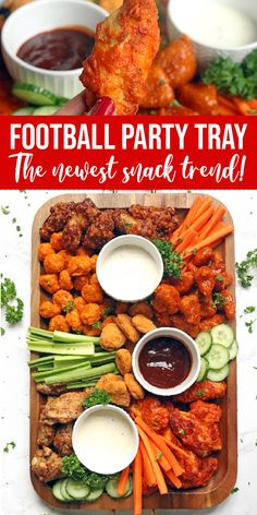 Chicken Wing Charcuterie Board – Passion For Savings Football Party Tray! Easy Dinner Idea for a Crowd with the Newest Snack Trend! This Chicken Wing Charcuterie Board is the perfect party idea for Football Games or any party! Charcuterie Recipes, Charcuterie And Cheese Board, Charcuterie Platter, Cheese Boards, Party Food Platters, Party Trays, Food Trays, Snack Trays, Appetizer Recipes