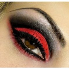 Wanting to try red eyeshadow techniques. ..