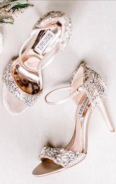 Rose gold sparkle heels