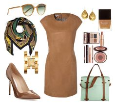 """""""Caramel Mint"""" by burntokra ❤ liked on Polyvore featuring Manolo Blahnik, ESCADA, Barton Perreira, Emilio Pucci, Charlotte Tilbury, Butter London, Tory Burch and Kevia"""