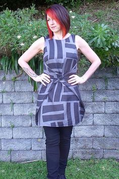 Named is a Finnish indie pattern company that is all about clean lined simplicity with some interesting design detail. The Kielo wrap dress. Textiles, Clothing Patterns, Sewing Patterns, Long Tops, Cotton Silk, Fitted Bodice, Refashion, Couture, Diy Fashion