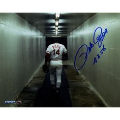 "Baseball great Pete Rose has personally hand-signed this 8x10 photo. Inscribed ""4256"" 100% Guaranteed Authentic Includes Steiner Sports Certificate of Authenticity Features Tamper-Evident Steiner Holo"