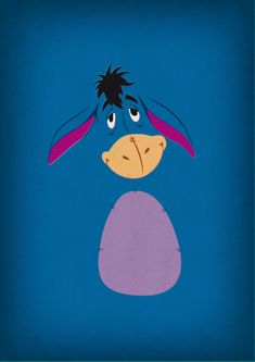 Printable Art Winnie the Pooh Nursery Art Eeyore by TheRetroInc Winnie The Pooh Nursery, Winnie The Pooh Friends, Disney Winnie The Pooh, Disney Magic, Disney Art, Disney Pixar, Disney Crafts, Disney Wallpaper, Iphone Wallpaper