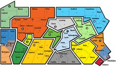 PA SBDC Locations Map Small Business Development Center, Location Map, Map