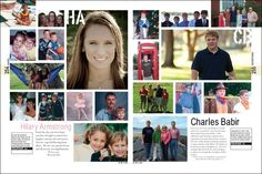 yearbook samples layout senior pages from william r boone high school yearbook pages 254