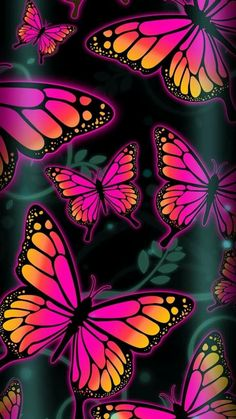 Butterflies Affect wallpaper by NikkiFrohloff - 24 - Free on ZEDGE™ Butterfly Wallpaper Iphone, Neon Wallpaper, Heart Wallpaper, Cellphone Wallpaper, Colorful Wallpaper, Screen Wallpaper, Butterfly Drawing, Butterfly Painting, Cool Backgrounds
