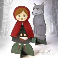 See the making of Amalia K's latest standing paper dolls, inspired by the iconic Little Red Riding Hood
