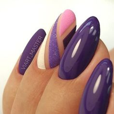 In search for some nail designs and ideas for the nails? Here's our list of 28 must-try coffin acrylic nails for trendy women. Beautiful Nail Art, Gorgeous Nails, Hair And Nails, My Nails, Finger, Trendy Nail Art, Nail Swag, Purple Nails, Purple Glitter