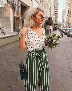 Find and save ideas about Street Style Looks on Women Outfits. Summer Outfits, Casual Outfits, Cute Outfits, Fashion Outfits, Womens Fashion, Fashion Tips, Fashion Trends, Summer Ootd, Dots Fashion