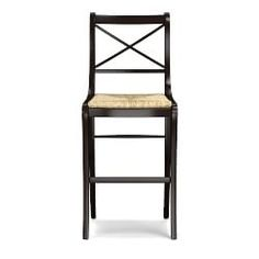 Inspired by a vintage French chair, our bar stool reflects its heritage in graceful lines, comfortable proportions and timeless quality. Beautifully handcrafted from solid wood with a hand-woven rush seat, it's offered in two finishes that p… Williams Sonoma, Dining Room Chairs, Side Chairs, Counter Stools, Bar Stools, Walnut Chair, French Chairs, Small Kitchen Appliances, Cooking Utensils