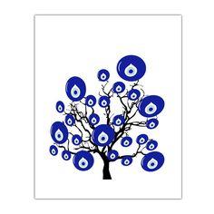 evil eye bead wall art  tree turkish decor turkish evil by gonulk, $10.00