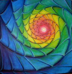 FIBONACCI SPIRAL 2 by Eva June Vith Christensen