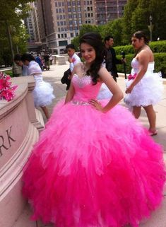 pink shades ball gown i wish it was like blue green or purple though