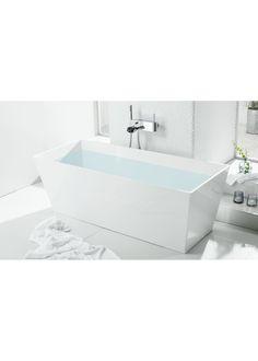 551671 Svedbergs  Svedbergs Q159 Frittstående badekar 1590x650 mm, Med overløpshull.