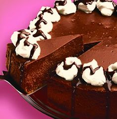 Recipe for Luscious Baked Chocolate Cheesecake