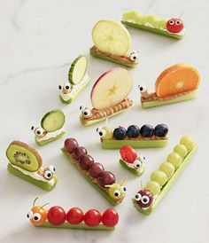 My nephew will like these fruit caterpillars