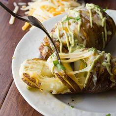 Cheesy Jalapeño Hasselback Potatoes